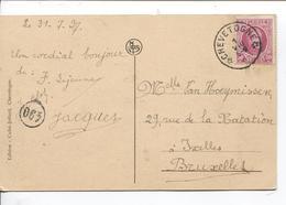 SJ25/ TP 200 Houyoux S/CP Chevetogne C.Relais-Etoile Chevetogne 1/8/1927 V.Ixelles - Postmarks With Stars