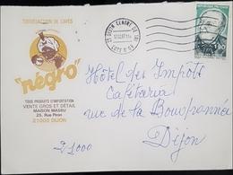 """Belle Enveloppe Publicitaire De 1987 Café """" Négro """" De Dijon Pour Les Impôts - Poststempel (Briefe)"""