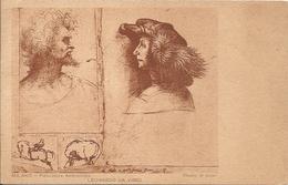 LEONARDO DA VINCI - STUDIO DI TESTE - FORMATO PICCOLO - VIAGGIATA - (rif. G37) - Paintings