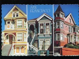 CPM Neuve Etats-Unis SAN FRANCISCO Here Are Three Examples Of Victorian Architecture - San Francisco