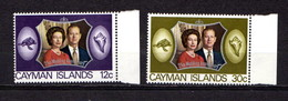 CAYMAN  ISLANDS    1972    Royal  Silver  Wedding    Set  Of  2    MNH - Iles Caïmans
