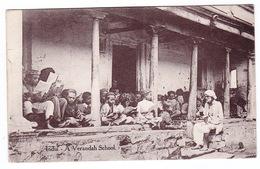 India - A Verandah School (Raphael Tuck) - Schools