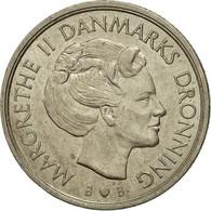 Monnaie, Danemark, Margrethe II, Krone, 1981, Copenhagen, TB+, Copper-nickel - Danemark