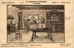 Illustrateur G Ravaut LE MOBILIER RUSTIQUE G Delafosse Interieur Alsacien Usine à St Servan - Commerce