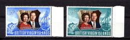 BRITISH  VIRGIN  ISLANDS   1972    Royal  Silver  Wedding    Set  Of  2    MNH - British Virgin Islands