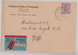 Chênée 1951  Entreprises De Routes Et Terrassements - Liege