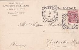 STORIA POSTALE - MOGLIANO VENETO ( TREVISO) ISTITUTO PIO PATRONATO PELLAGROSI -VIAGGIATA PER MONTECCHIO MAGG.( VI) - 1900-44 Vittorio Emanuele III