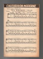 Partition L'accordéon Moderne - Tes Grands Yeux - Tendre Aveu - Partitions Musicales Anciennes
