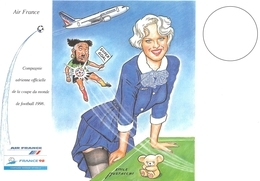 Air France Football Illustrateur Mustacchi - 1946-....: Ere Moderne