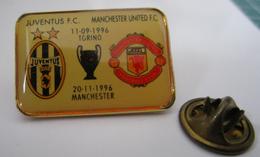Pins Champions League Juventus Torino - Manchester United FC FINALE 1996 Distintivo Calcio Soccers UEFA - Calcio