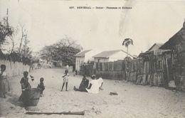 Sénégal, Dakar - Femmes Et Enfants - Photo Fortier - Carte Dos Simple N° 297 - Sénégal