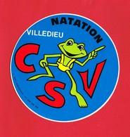 1 Autocollant VILLEDIEU NATATION C S V - Autocollants