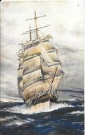 CPA-1930-GB-CLIPPER-LAMMERMOOR-1874/1882-Perdu Au Large De San Francisco-Dessin AF.D.Bannister-TBE - Voiliers