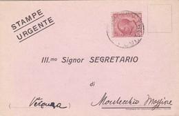 STORIA POSTALE - TREVISO - VIAGGIATA PER MONTECCHIO MAGGIORE ( VICENZA) - 1900-44 Vittorio Emanuele III