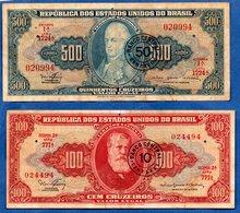 Brésil  -  Lot De 2 Billets - Brésil