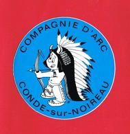1 Autocollant CONDE SUR NOIREAU COMPAGNIE D ARC - Autocollants