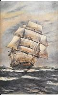 CPA-1930-GB-CLIPPER-STIFF  BREEZE-Dessin AF.D.Bannister-TBE - Voiliers