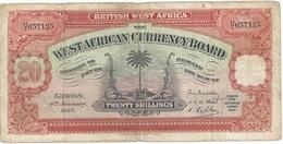 20 SHILLINGS AFRIQUE OCCIDENTALE BRITANNIQUE 1937 - Billets