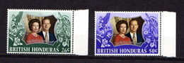 BRITISH  HONDURAS   1972    Royal  Silver  Wedding    Set  Of  2    MNH - Honduras Britannique (...-1970)