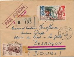 I92 - SÉNÉGAL - Enveloppe Par Avion - Sénégal Vers Paris France - 1949 - Poste Aérienne
