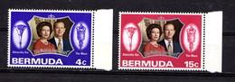 BERMUDA   1972    Royal  Silver  Wedding    Set  Of  2    MNH - Bermudes