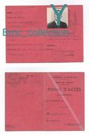 Toulon, Permis D'accès à L'Arsenal, Marine Nationale, Primo Taddei, Né 16/01/1899 à Cerreto-Guidi, Habite Sanary, 1957 - Documents