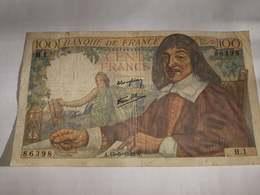 Billet 100 Francs 1942 - 100 F 1942-1944 ''Descartes''