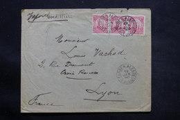 """BRÉSIL - Enveloppe De Alegre Pour La France En 1909 , Mention Manuscrite """" Vapor Cordillière  """" - L 25402 - Cartas"""