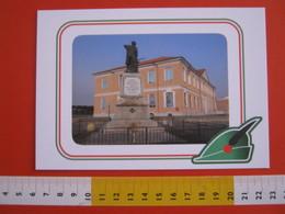 G.2 ITALIA ARBORIO VERCELLI CARD NUOVA 2016 100 ANNI GRANDE GUERRA ALPINI MONUMENTO CADUTI SCUOLA - OPACA - Scuole