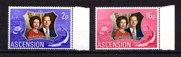 ASCENSION   1972    Royal  Silver  Wedding    Set  Of  2    MNH - Ascension (Ile De L')