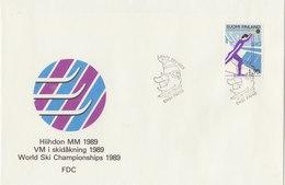 FINLAND 1989 FDC World Ski Championship.BARGAIN.!! - Finland