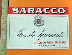 SARACCO MOSCATO SPUMANTE CANELLI ETICHETTA - Etichette