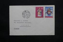 VATICAN - Enveloppe De La Cité Du Vatican Pour Alger En 1960 , Affranchissement Plaisant - L 25405 - Lettres & Documents