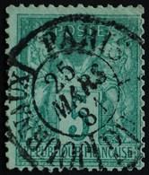 -Sage N°75 Type Ll. O PARIS-JOURNAUX 25 Mars 1881.. - 1876-1898 Sage (Type II)
