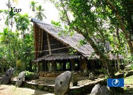 Micronesia Yap Island Meetinghouse New Postcard Mikronesien AK - Micronesia