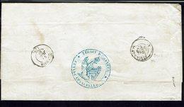 """FR -1865 """"Grande Chancellerie De L'Ordre Impérial De La Légion D'Honneur Paris"""" Port Dû 30 Décimes, Env. Vers L'Amour - - Marcophilie (Lettres)"""
