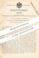 Original Patent - H. B. Pullen Burry , London , England  1895 , Gewicht Abmessen   Waage   Waagen   Wiegen   Waagebalken - Historische Dokumente