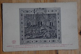 10 : Arrivée De Henri IV à La Cathédrale De Troyes (1595) D'après Une Vieille Gravure Représentant Un Vitrail -(n°14777) - Troyes
