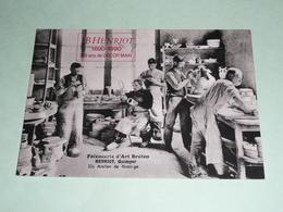CPM, Réédition, Carte Postale, Finistère 29, Faiencerie B. HENRIOT, Atelier De Moulage, Animée, Art Breton - Quimper