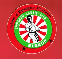 1 Autocollant ELBEUF SPORT SHOTOKAN KARATE CLUB CAISSE D EPARGNE - Autocollants