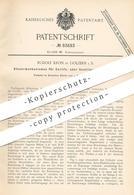 Original Patent - Rudolf Kron , Golzern , 1894 , Steuerung Für Corliss- O. Ventildampfmaschinen   Dampfmaschine , Motor - Historische Dokumente