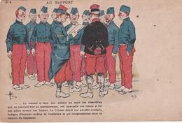MILITARIA Humour . Illust.  GUILLAUME . Au Rapport (+ PUB  Nouveautés TRUCHOT Fres CLUNY (71) - Humorísticas