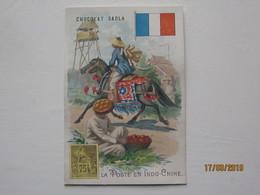 LE/AJ - Chromo Chocolat  SADLA : La Poste En Indo-Chine  -1890-1900 - Cromos