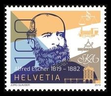 Switzerland 2019 Mih. 2589 Railways Pioneer Alfred Escher MNH ** - Neufs