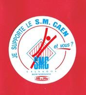 1 Autocollant  JE SUPPORTE LE S. M. CAEN Calvados SPORT Football - Autocollants
