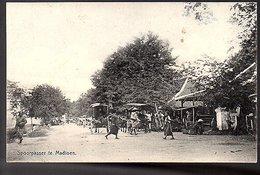 Netherlands Indies Spoorpasar Madioen ± 1910 (NI-17-9) - Indonesië