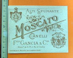 ASTI SPUMANTE MOSCATO CANELLI F.LLI GANCIA ETICHETTA - Etichette