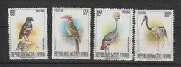 Cote D'Ivoire 1980 Oiseaux Yvert 565ABCD 4 Val Neuf ** MNH - Côte D'Ivoire (1960-...)