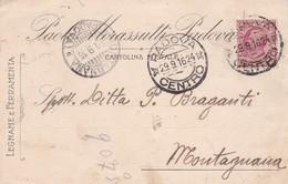 STORIA POSTALE - PADOVA - PAOLO MORASSUTTI - LEGNAME E FERRAMENTA - VIAGGIATA PER MONTAGNANA ( PADOVA) - 1900-44 Vittorio Emanuele III