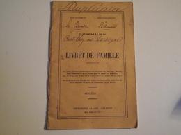 LIVRET DE FAMILLE, Castillon Sur Gironde, 1899 - Non Classés